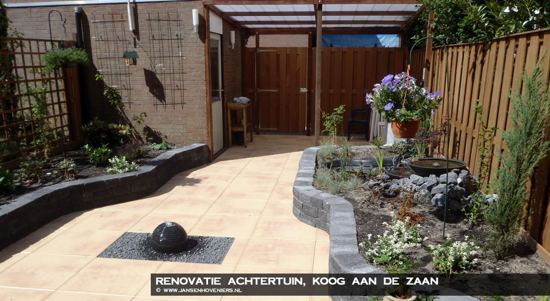 Renovatie achtertuin Koog aan de Zaan
