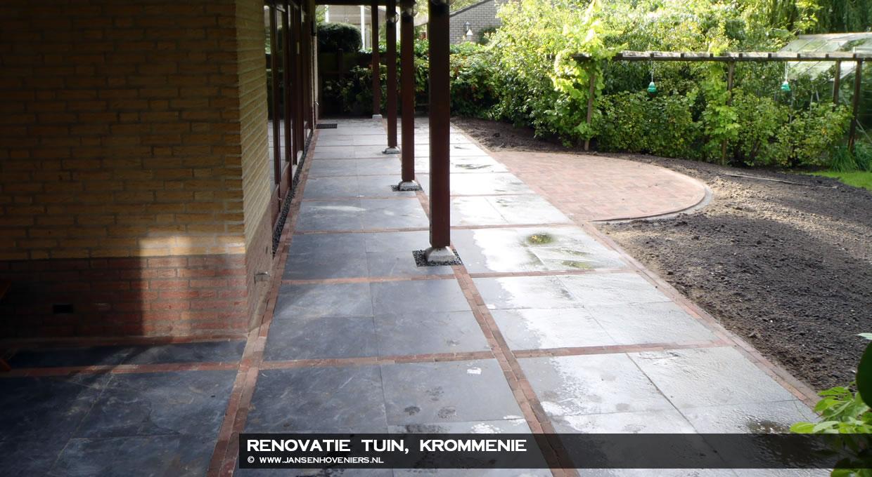 Renovatie achtertuin Krommenie