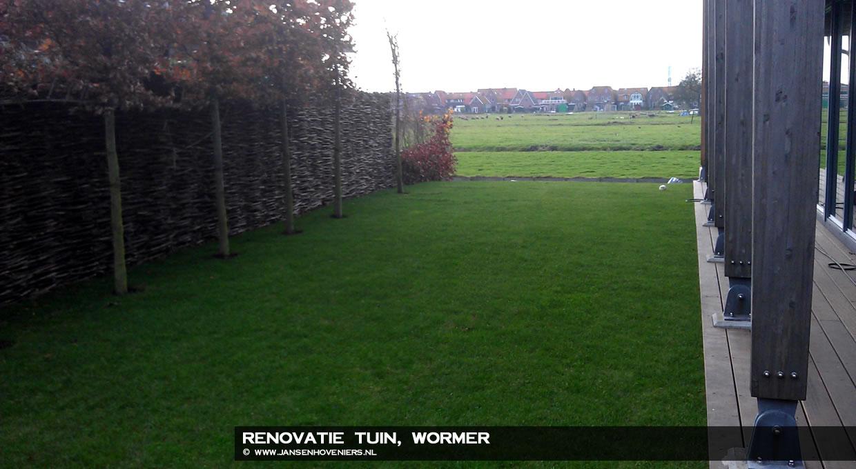 Renovatie tuin, Wormer
