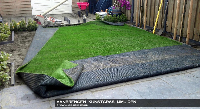 Aanbrengen kunstgras, IJmuiden : Jansen Hoveniers Markenbinnen l ...