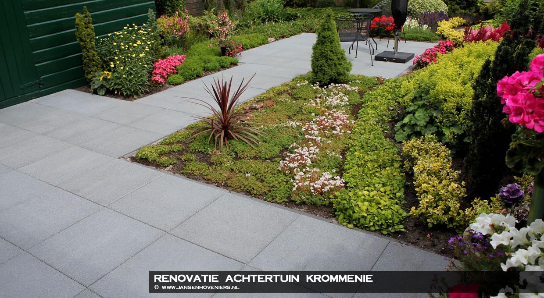 Renovatie achtertuin, Krommenie