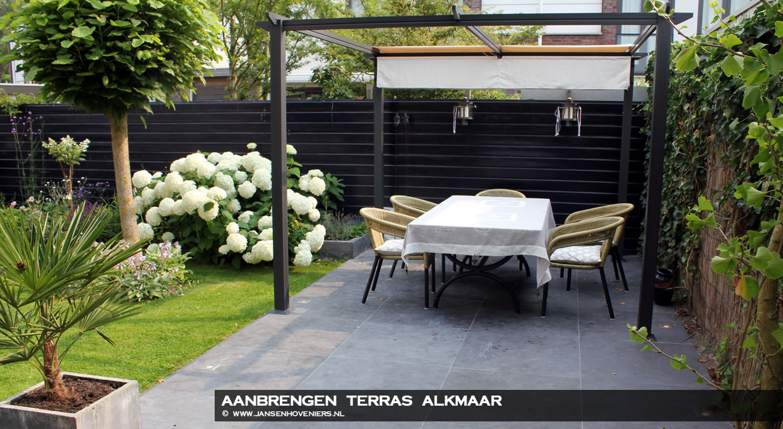Aanbrengen terras, Alkmaar