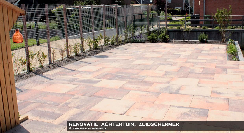 Renovatie tuin, Zuidschermer