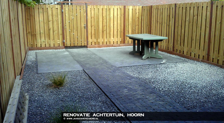 Renovatie achtertuin, Hoorn