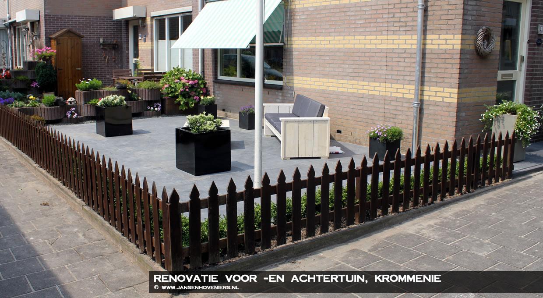 Renovatie voor- en achtertuin, Krommenie