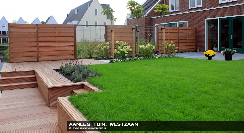 Aanleg tuin, Westzaan