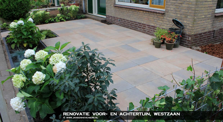 Renovatie voor- en achtertuin, Westzaan