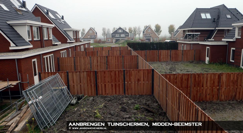 Aanbrengen tuinschermen, Midden-Beemster