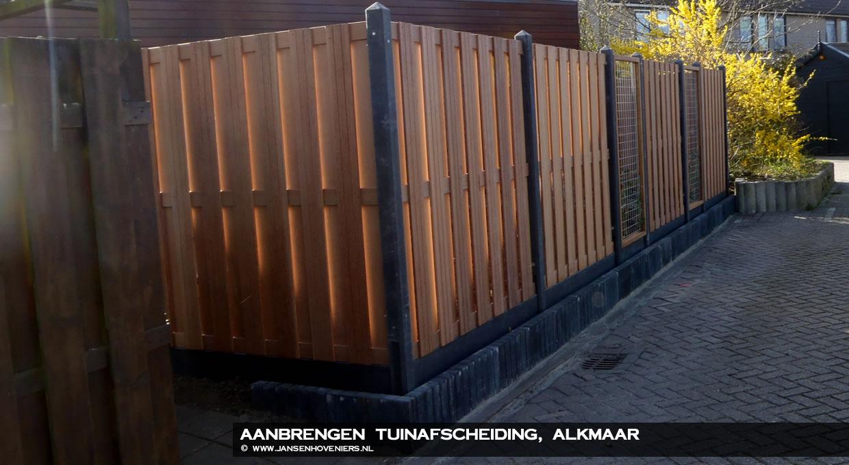 Renovatie tuinafscheiding, Alkmaar