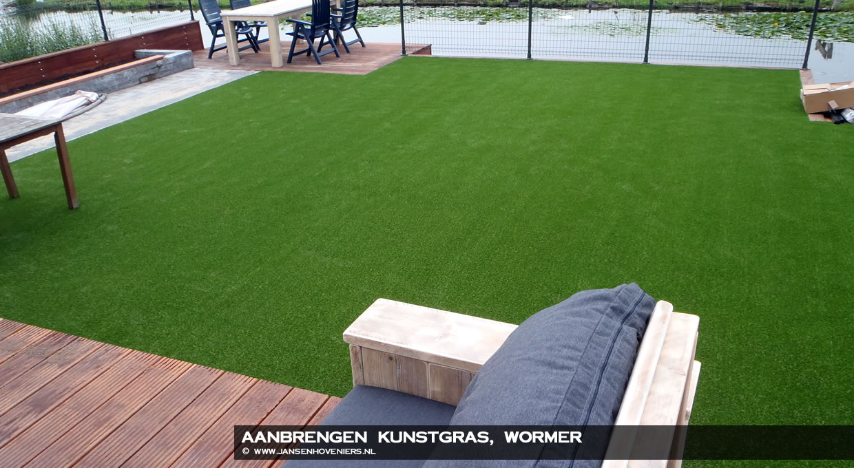 Aanbrengen kunstgras, Wormer : Jansen Hoveniers Markenbinnen l ...