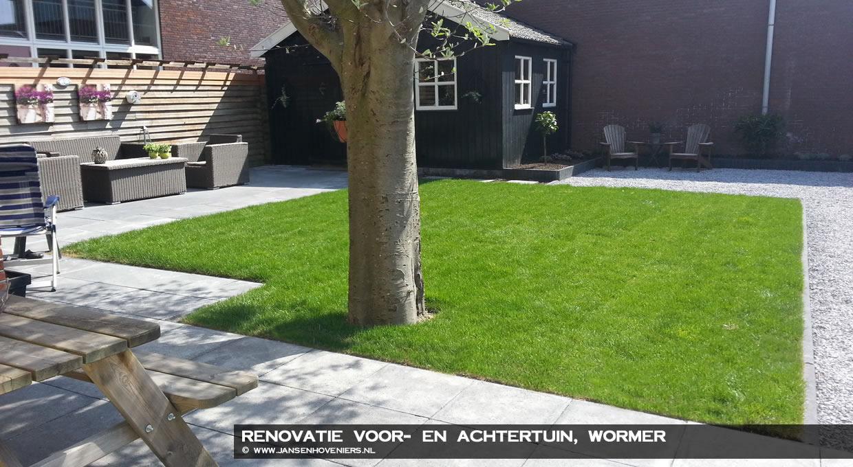 Renovatie voor- en achtertuin, Wormer
