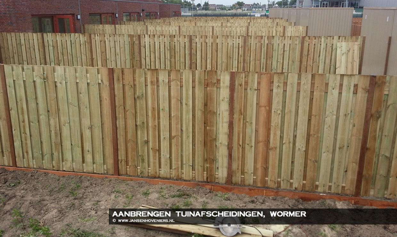 Aanbrengen tuinafscheidingen, Wormer