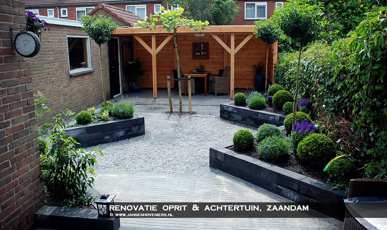 Renovatie oprit & achtertuin, Zaandam
