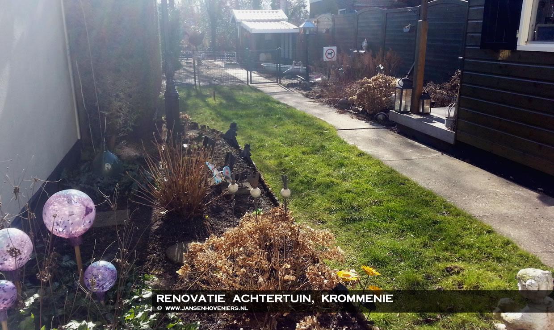 Renovatie Smalle Tuin : Renovatie achtertuin krommenie jansen hoveniers markenbinnen l