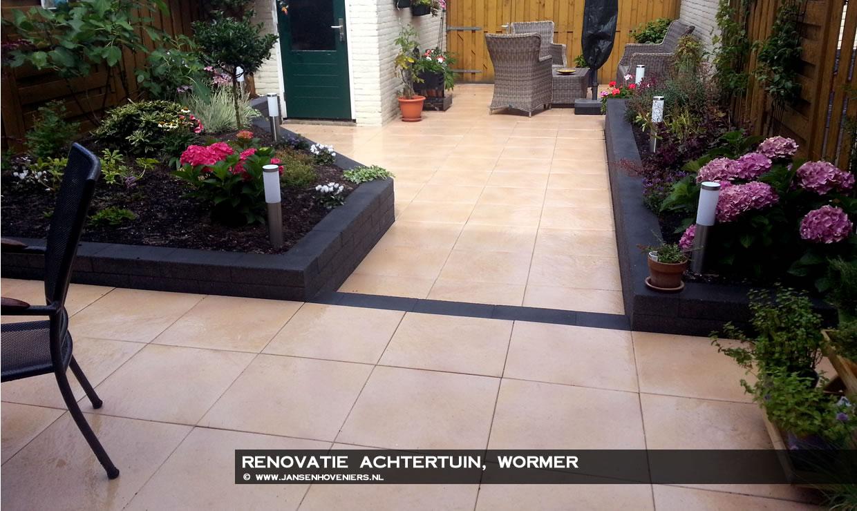 Renovatie achtertuin, Wormer