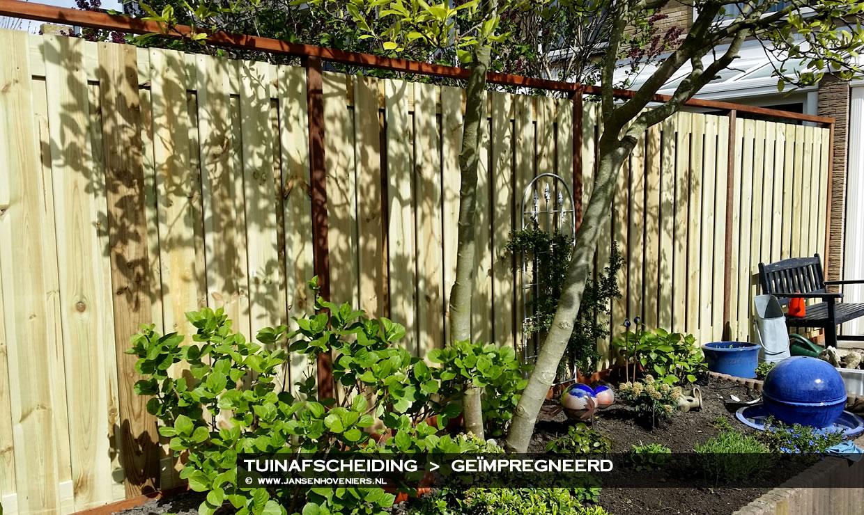 Fotogallerij Tuinafscheiding Geïmpregneerd